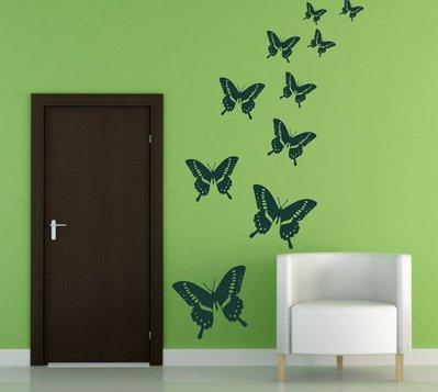 Adesivo per le pareti farfalle 046n per la casa e per te deco su misshobby - Farfalle decorative per pareti ...