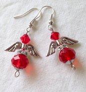 ~ Angel Earring Pendant ~ Orecchino pendente con angelo swarovski e perline miyuki