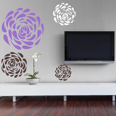 Sagoma per disegnare fiori (3371x)