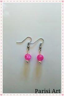 Orecchini pendenti fatti a mano con perle
