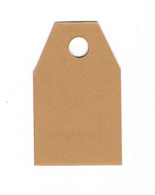 TAG con buco biglietti chiudipacco carta marrone kraft