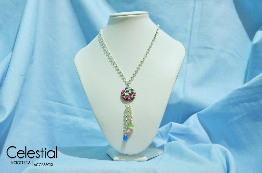 Collana Madreperla Lunga - Farfalle Colorate