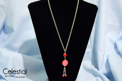 Collana Bambolina - Rosso