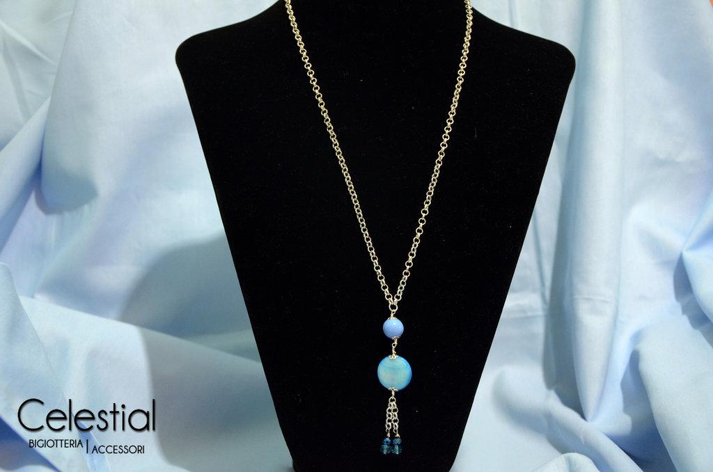 Collana Bambolina - Azzurro