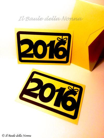 BIGLIETTO AUGURI BUON ANNO 2016 / HAPPY NEW YEAR CARD (art. 66)