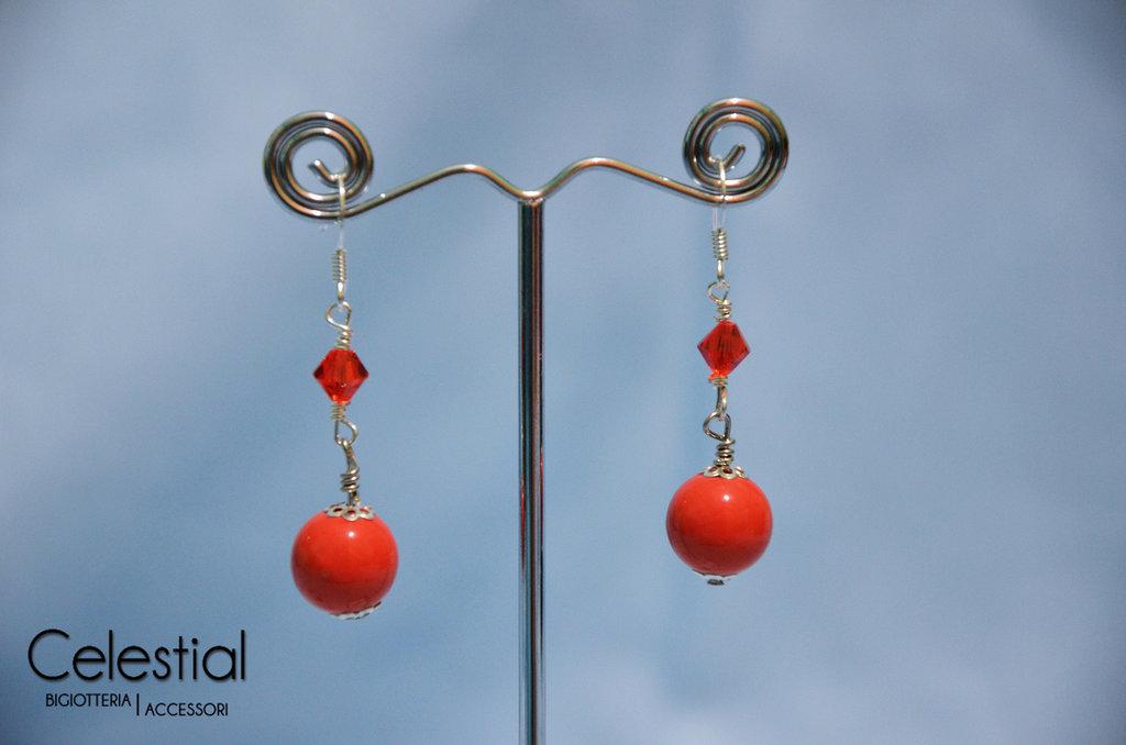 Orecchini Corti Swarovski - Arancione