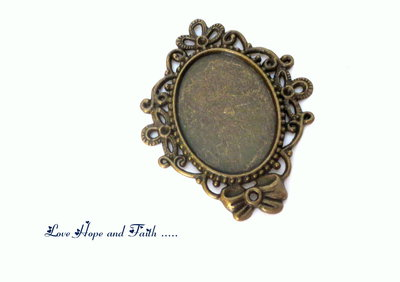 Base cabochon (57x46mm) (cod.14527)
