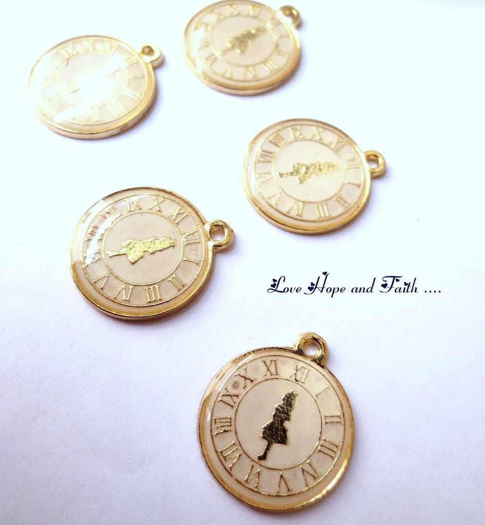 "Charm ciondolo ""Orologio"" (23x19 mm) (cod.59727)"