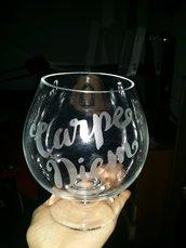 Bicchiere vetro personalizzabile