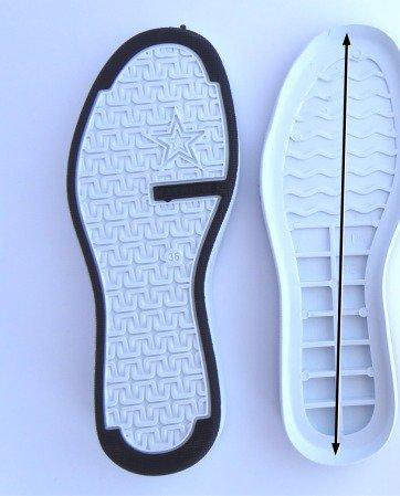suola per scarpe all uncinetto n 38 colore bianco