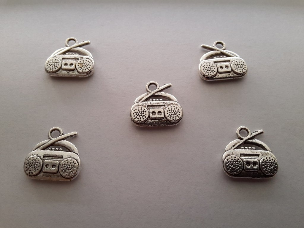 Charms 'Radiolina' argento tibetano