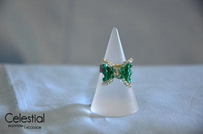 Anello Fiocco - Emerald