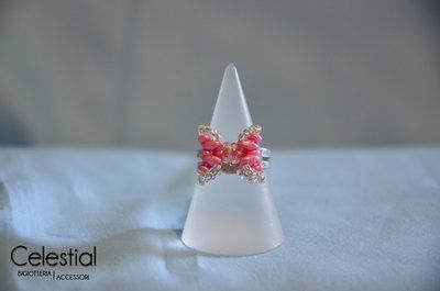 Anello Fiocco - Rosa