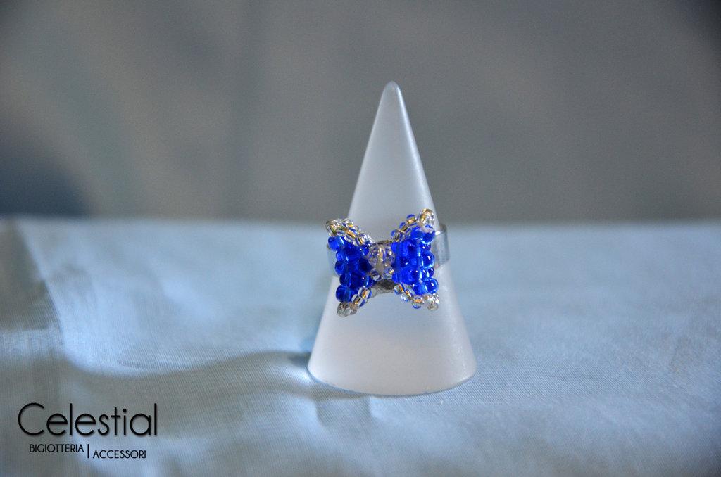 Anello Fiocco - Blu
