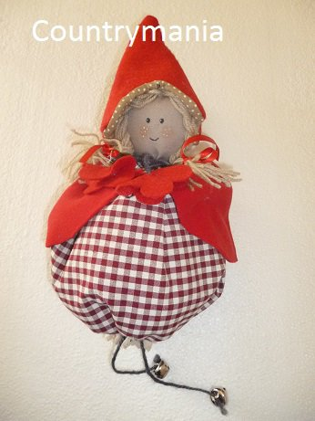 Elfo di stoffa, portafortuna per cameretta