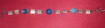 Agata blu e argento tibetano