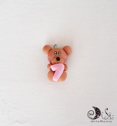 Ciondoli bomboniere orsetti personalizzabili con cuoricino, letterina... per bimba o bimbo