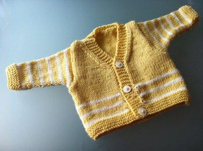 Golfino neonato giallo e bianco