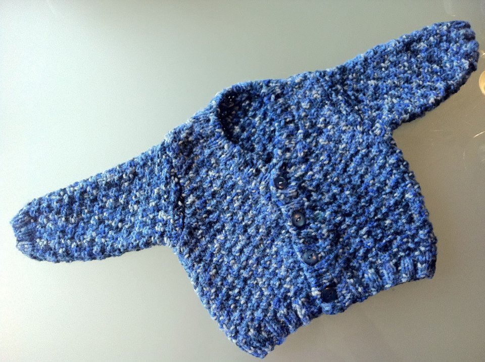 Famoso Golfino neonato blu melange ai ferri 0-3 mesi - Bambini  TC75
