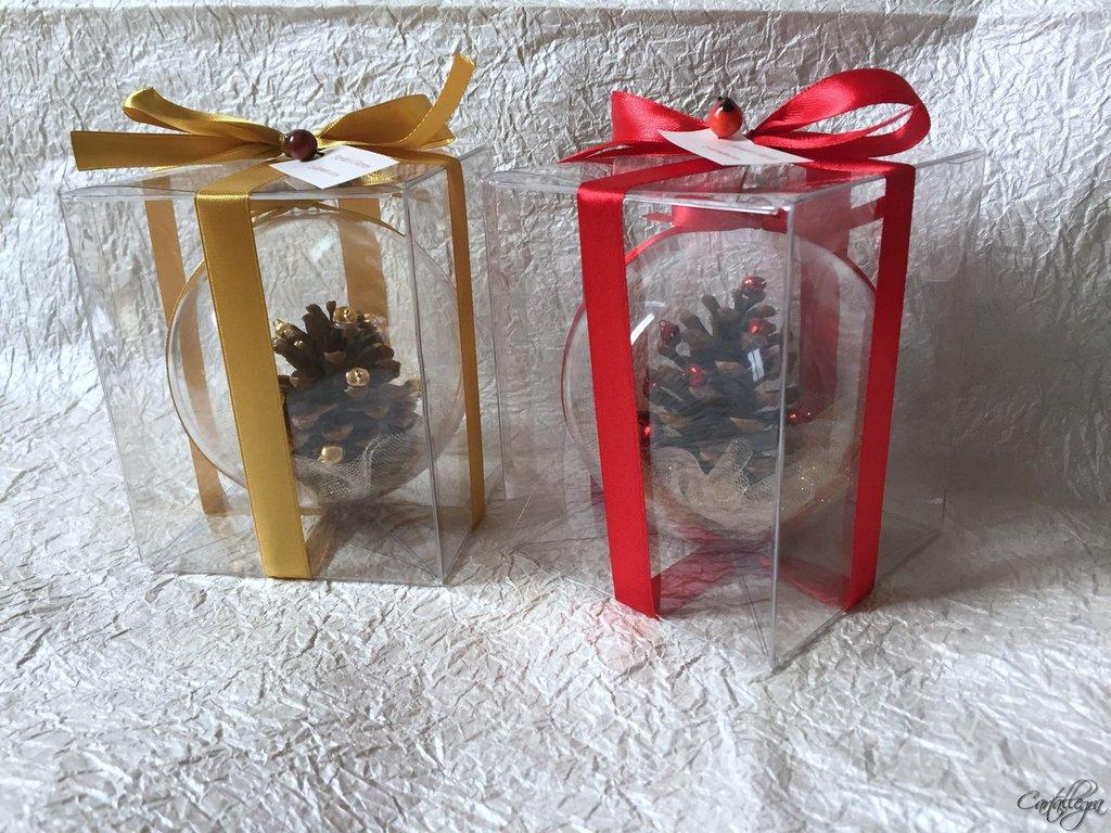 Bomboniere Matrimonio Tema Natalizio : Bomboniera natalizia palla in plexiglass feste matrimonio