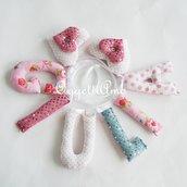 Ghirlanda di lettere imbottite rosa con fiori e lustrini: GIULIA