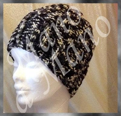 Cappello - nero bianco melange