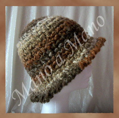 Cappello a cloche - Marrone beige