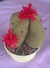 Bomboniera idea regalo piantina di cactus puntaspilli