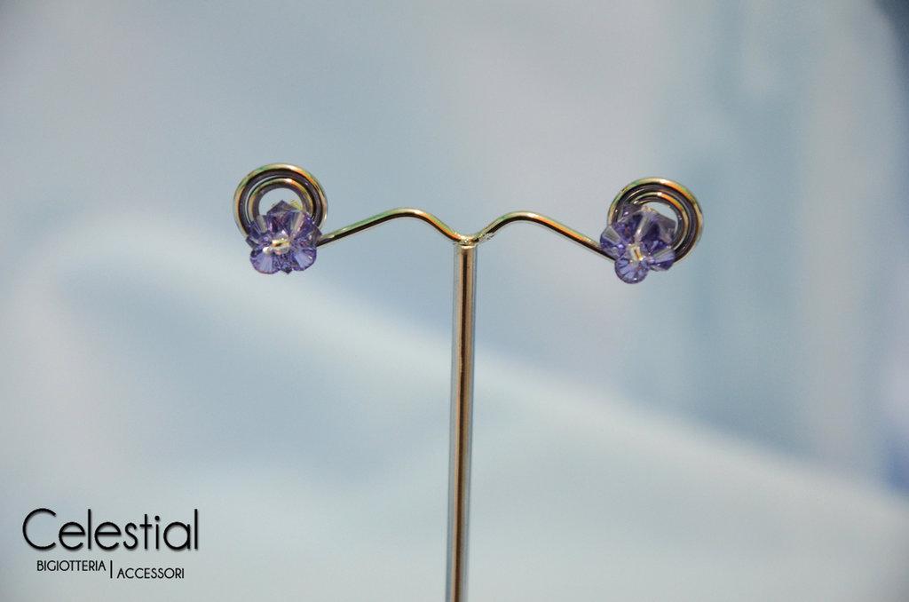 Orecchini a Perno - Violetto