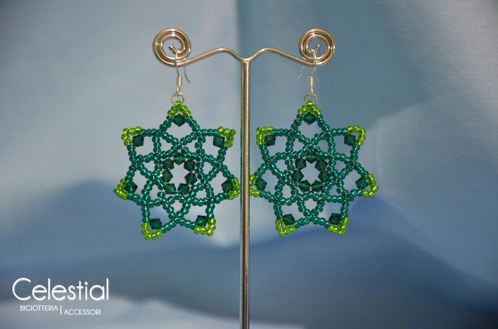 Orecchini Fiore - Emerald