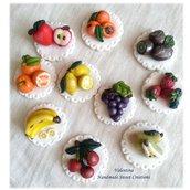 Bomboniera miniatura frutta- fimo