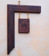 """Simbolo massonico in rovere antico """"Euclid proposition"""""""