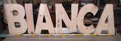 Lettere in legno massiccio di grandi dimensioni