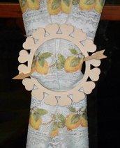 Raccoglitenda Fermatenda in legno di betulla