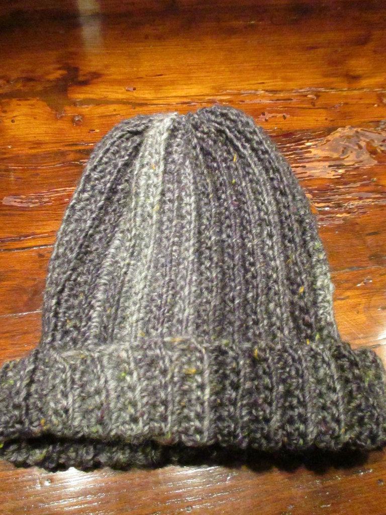 Cappello da uomo in lana grigio mélange