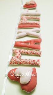 MAXIME: una ghirlanda rosa per decorare la cameretta con il suo nome