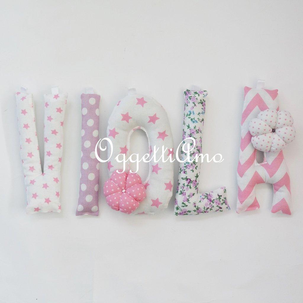 Viola: un nome rosa e glicine per decorare la sua cameretta!