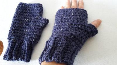 mezzi guanti scaldamano uncinetto