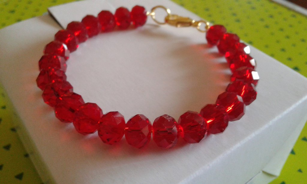 Bracciale armonico rosso