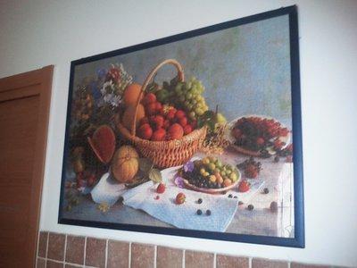 Quadro con frutta completo di vetro e cornice artigianale