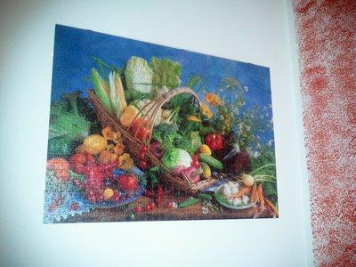 Quadro con verdura completo di cornice passepartout
