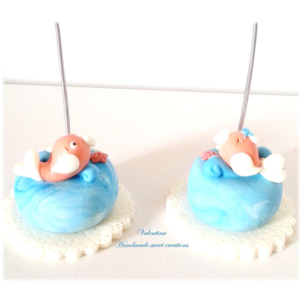 Mini cake tema marino- pesce