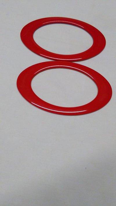 manici ovali rosso
