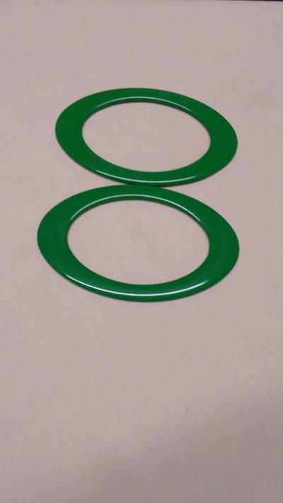 manici ovali verde