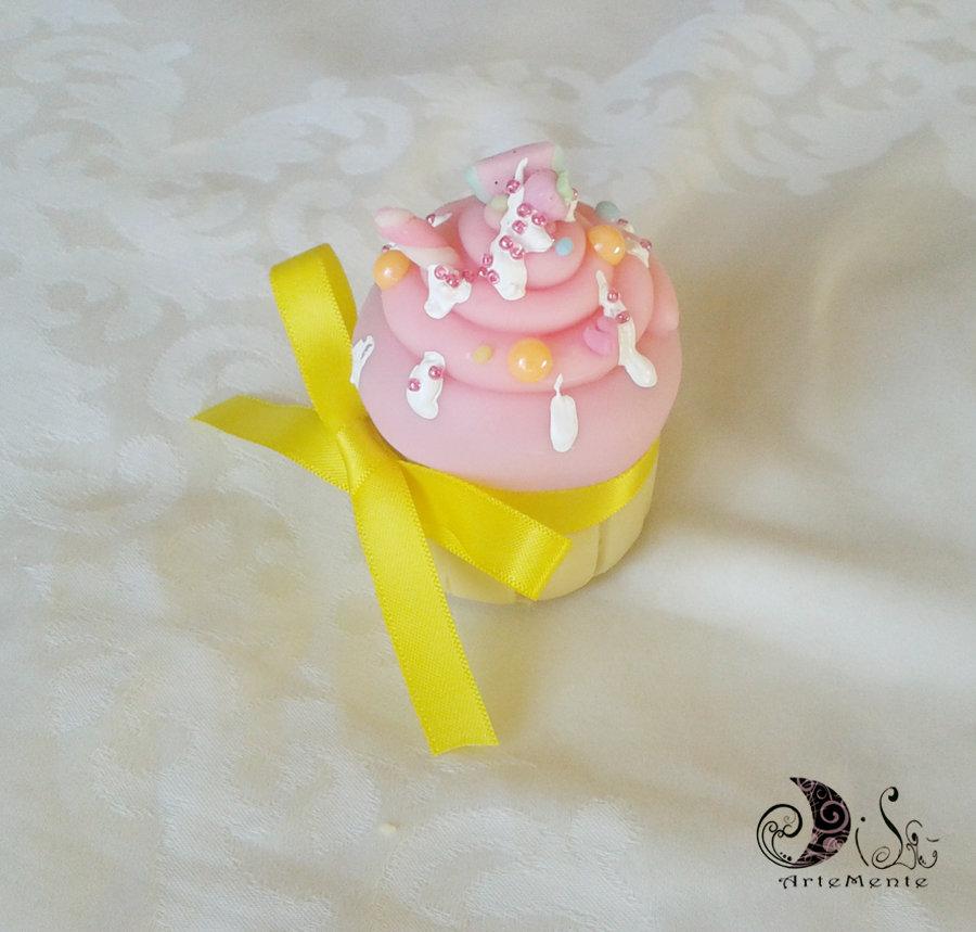 Bomboniera Portaconfetti cupcake personalizzabile per matrimonio, comunione, battesimo, compleanno