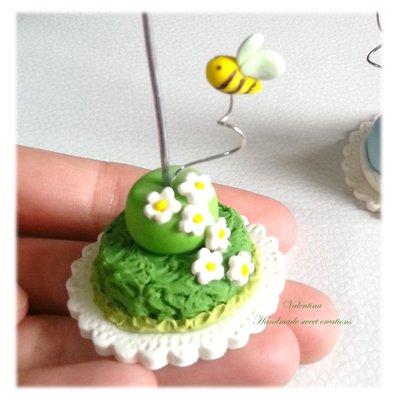 Mini cake con ape - segnaposto Battesimo Comunione
