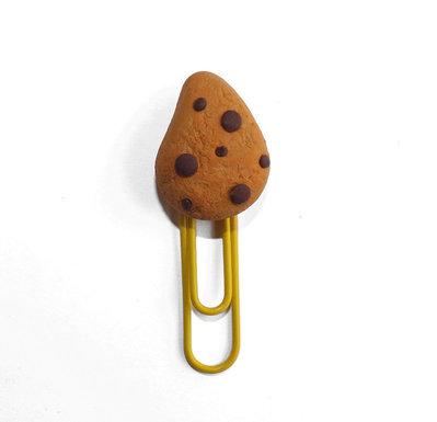 Segnalibro biscotto gocciole in fimo