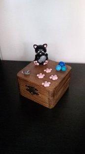 scatolina portagioie con micio