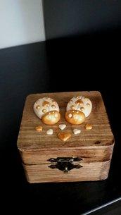 scatolina portagioie coccinelle innamorate