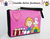 Pochette Vera Pelle Sally Brown con manicotto
